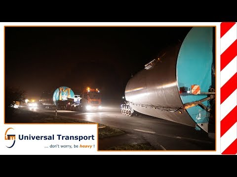 Universal Transport - Transport of tower sections with 5.11 m diameter