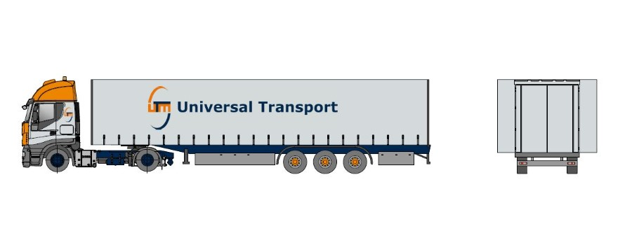 Remorcă de transport jumbo, acoperită, lățime extensibilă