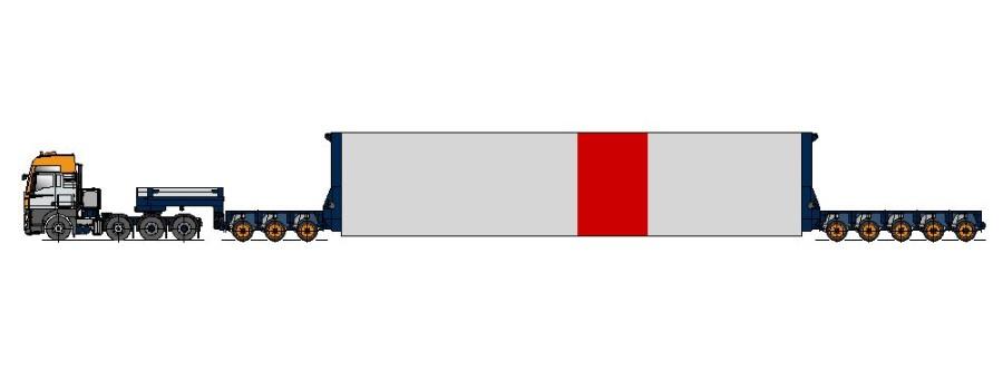 Adaptor turn, fixat cu flanșe